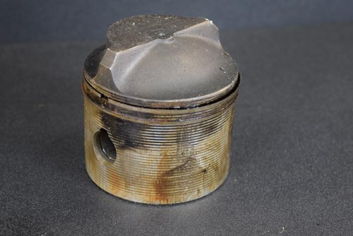 Before photo of piston
