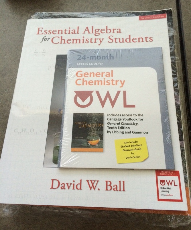 EBBING/GAMMON GENERAL CHEMISTRY 10TH EDITION ESSENTIAL ALGEBRA CHEMISTRY STUDENT