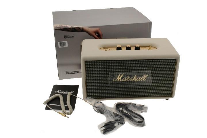 marshall stanmore cream bluetooth speaker 4091629 mdg. Black Bedroom Furniture Sets. Home Design Ideas