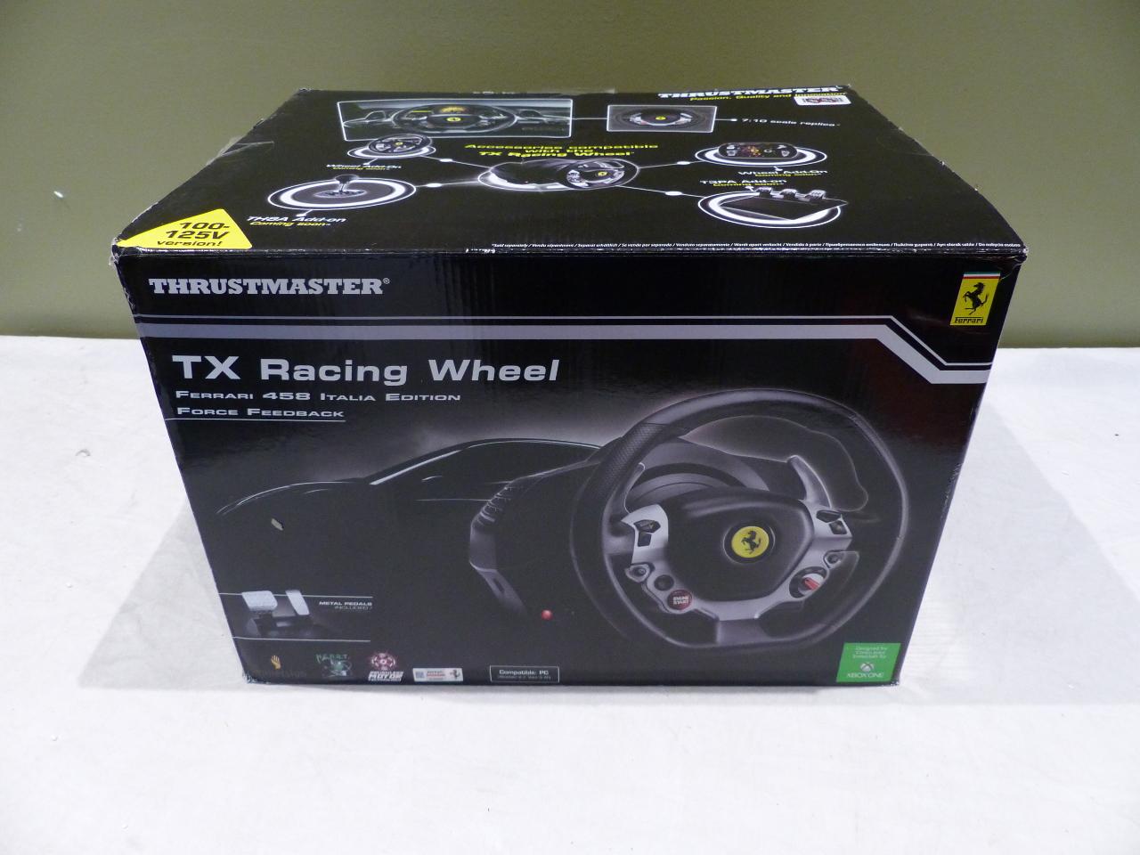 thrustmaster ferrari 458 italia edition tx racing wheel ferrari for xbox one 663296419286 ebay. Black Bedroom Furniture Sets. Home Design Ideas