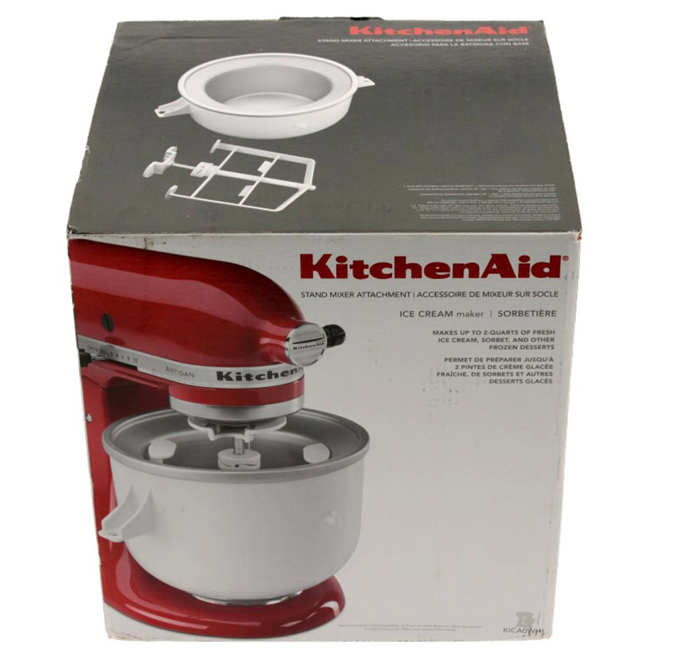 Kitchenaid Ice Cream Maker Attachment For Artisan Mixer 5ksm150 Kica0wh Ebay