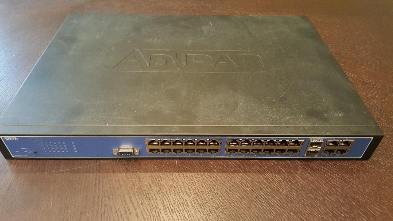 ADTRAN NETVANTA 1234 24-PORT MANAGED SWITCH