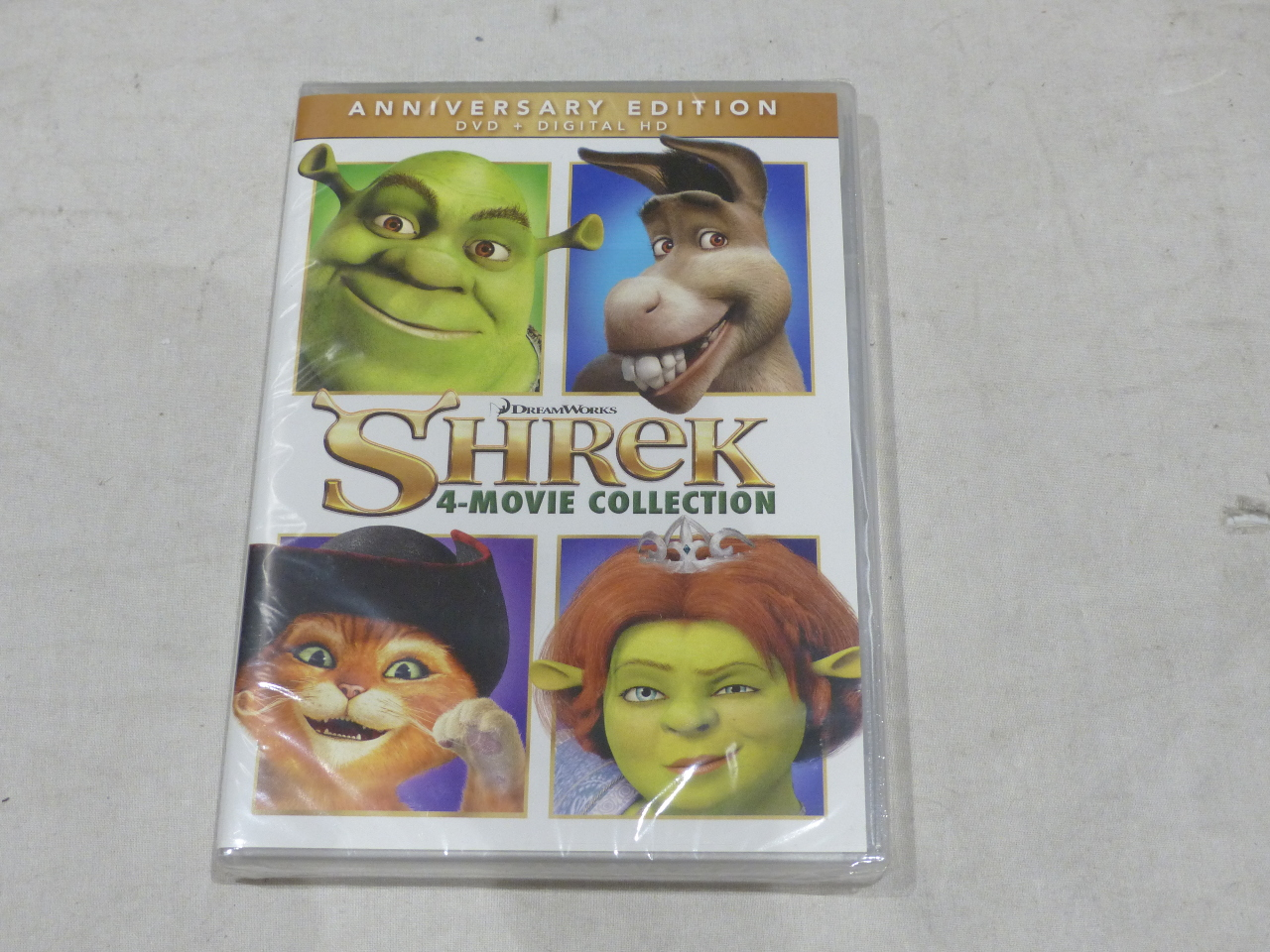 Shrek 4-movie Collection Anniversary Edition DVD Digital HD