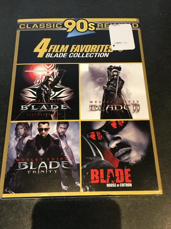 4 FILM FAVORITES: BLADE COLLECTION DVD SET NEW W/ SLIP