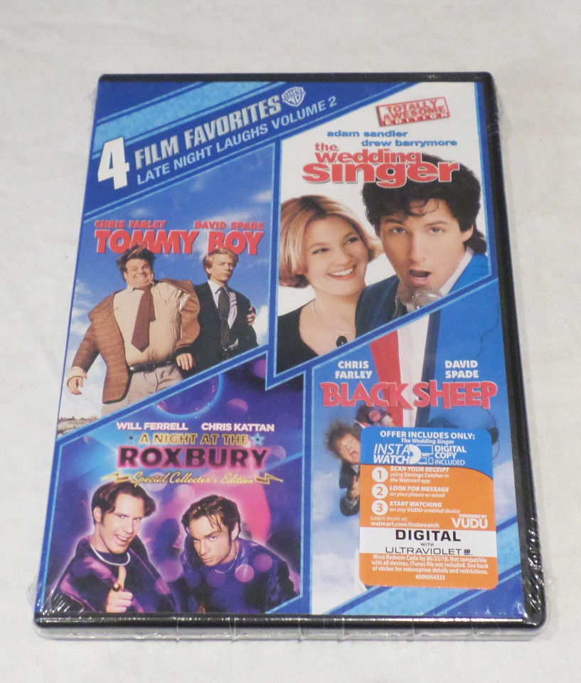 LATE NIGHT LAUGHS VOL 2 4 FILM DVD TOMMY BOY WEDDING SINGER ROXBURY BLACK SHEEP