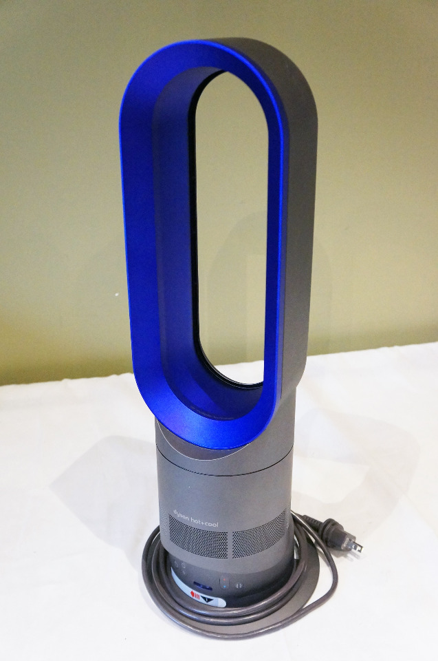 dyson am04 digital hot cool heater table bladless fan blue. Black Bedroom Furniture Sets. Home Design Ideas