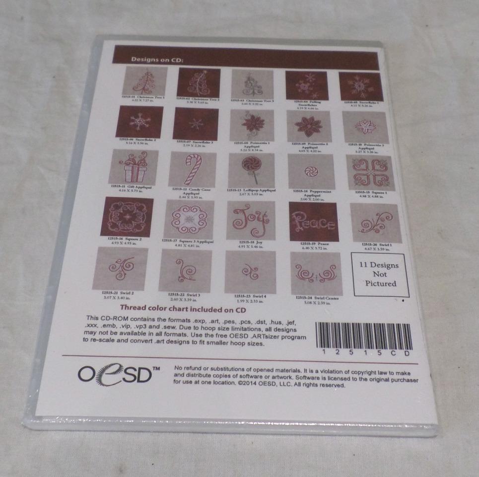 OESD EMBROIDERY SOFTWARE DESIGNS, SEASONAL STITCHERY 12515 12515CD