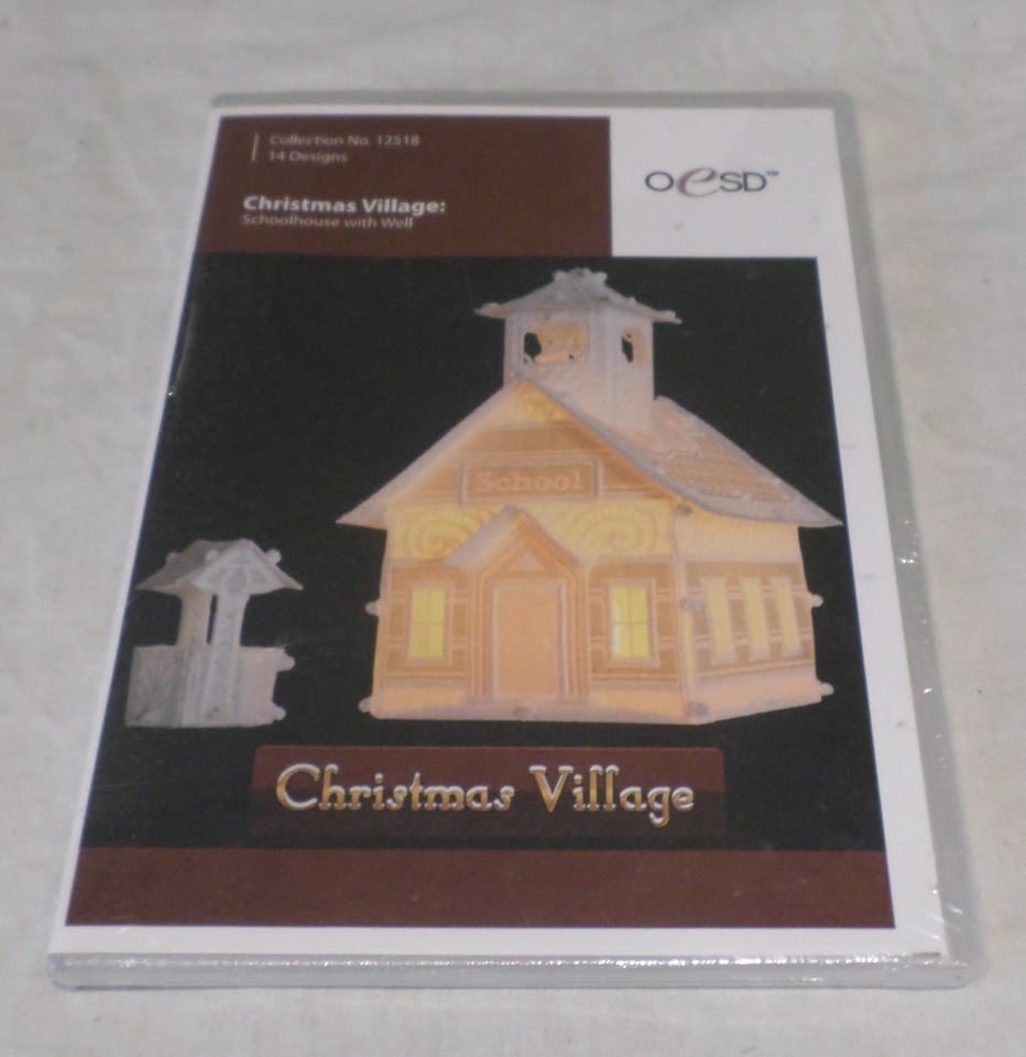 OESD EMBROIDERY SOFTWARE DESIGNS, CHRISTMAS VILLAGE: SCHOOLHOUSE W ...