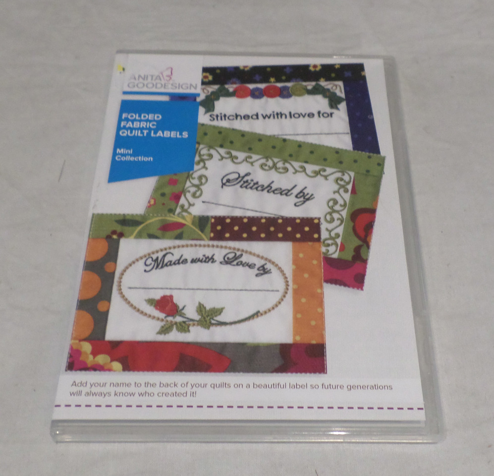 Anita goodesign embroidery software folded fabric quilt