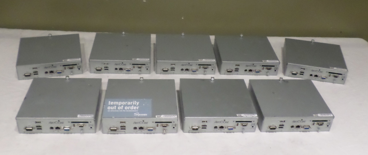 LOT OF 9* ARISTOCRAT COMPUTER SYSTEMS WITH CABLES