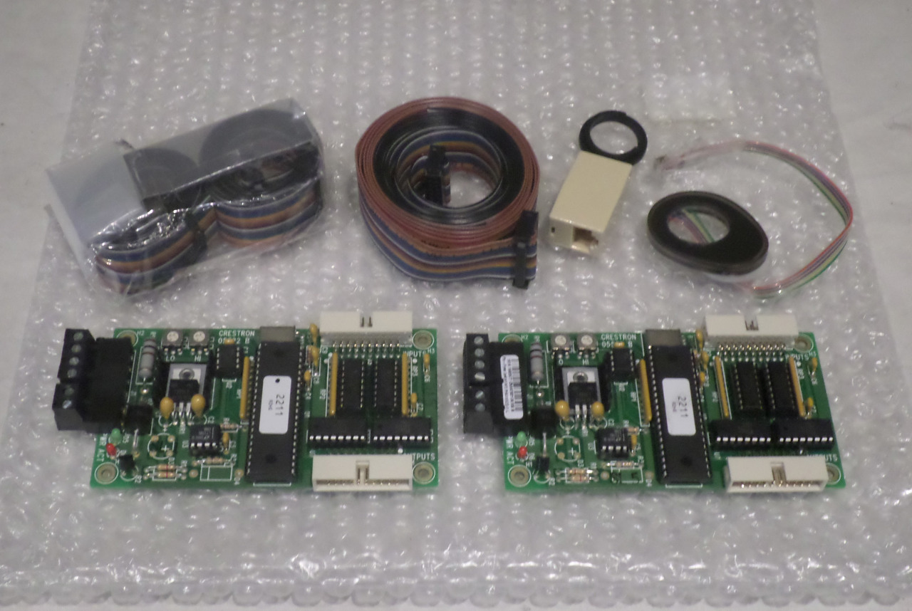 QTY 2* CRESTRON CNPI-16B 6500457 X2 CONTROL PANEL INTERFACE CARDS W/ CABLES