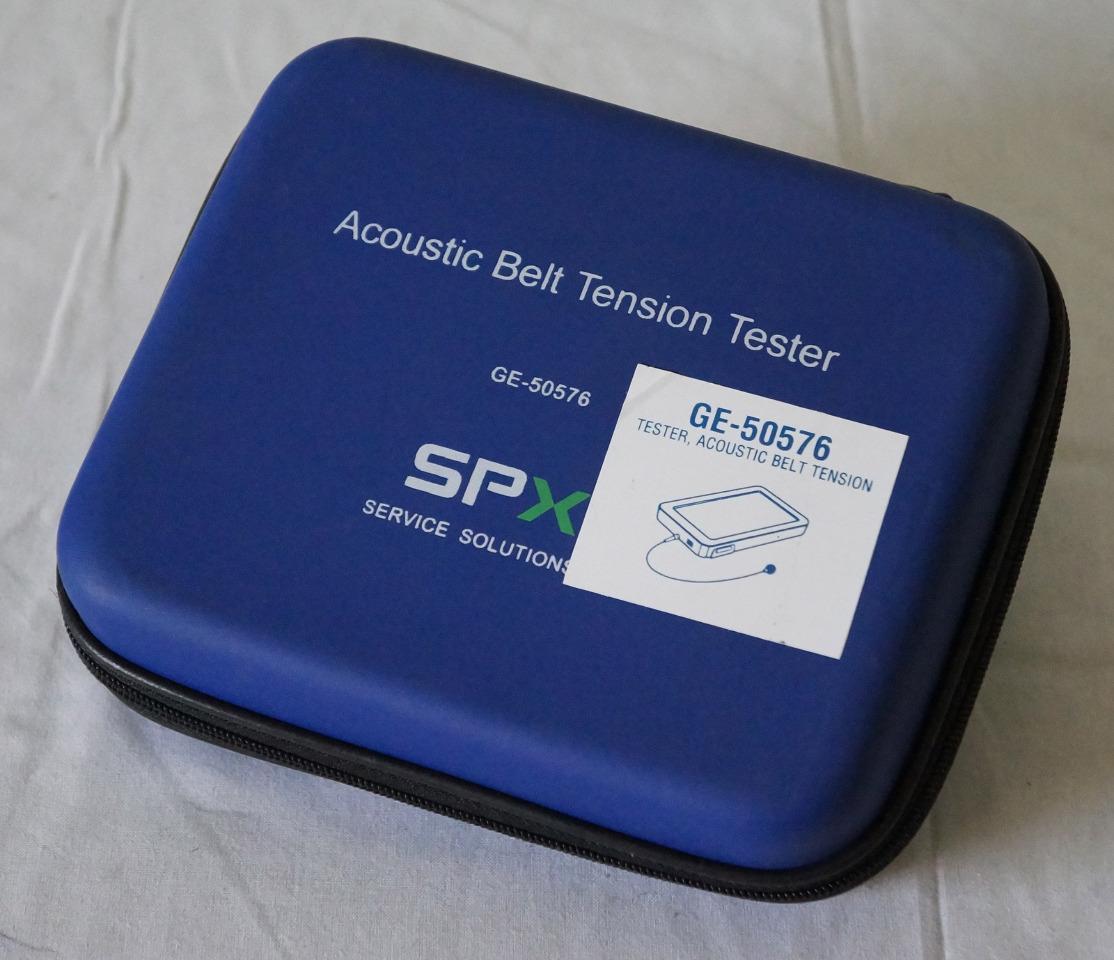 Acoustic belt tension tester