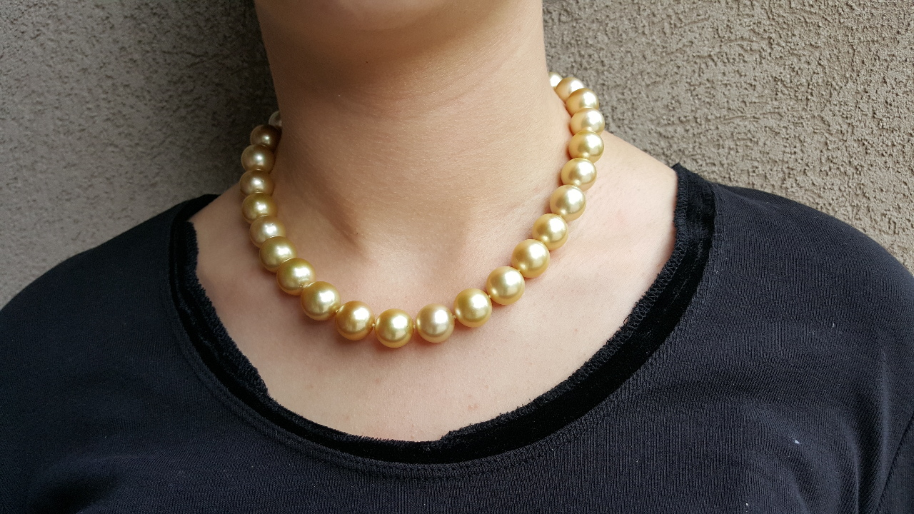 South Sea Pearl Necklace 18 Quot 31 13 5 14mm Pearls 18k