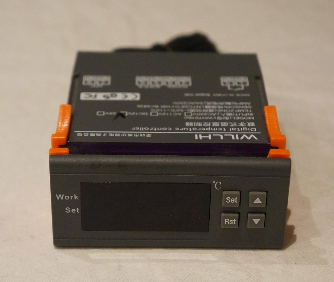 WILLHI DIGITAL TEMPERATURE CONTROLLER WH7016C DC12V W/SENSOR US SELLER  #C34101