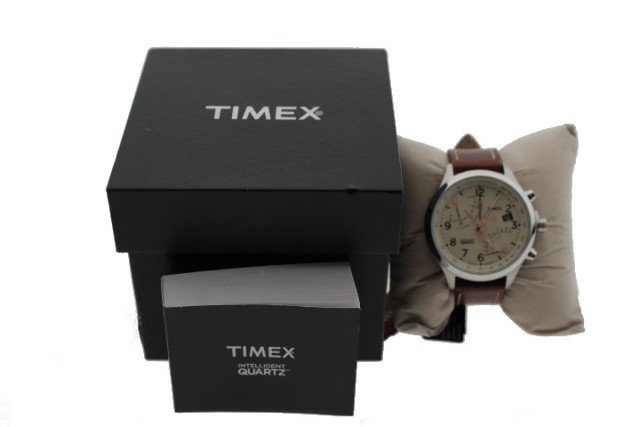 TIMEX T2N932 BROWN LEATHER WATCH