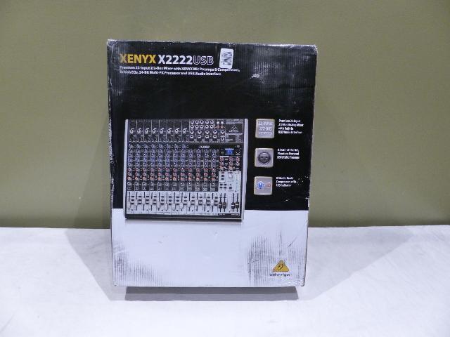 BEHRINGER XENYXX2222USB PREMIUM 22-INPUT MIXER  X2222USB