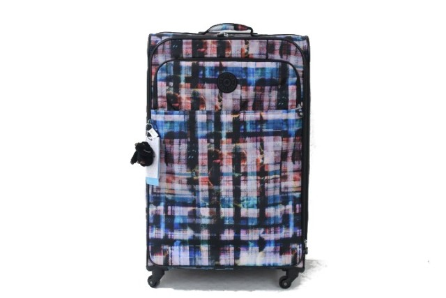 KIPLING PARKER LARGE WL4804 WHIMSEY PLAID LUGGAGE 960 WL4804