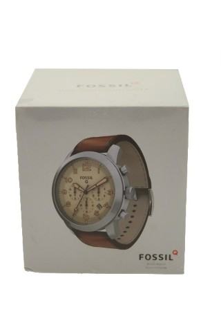 FOSSIL Q54 PILOT LIGHT BROWN LEATHER WATCH FTW10051