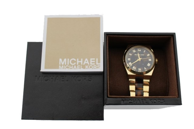MICHAEL KORS (MK6151) GOLD-TONE/TORTOISE WATCH