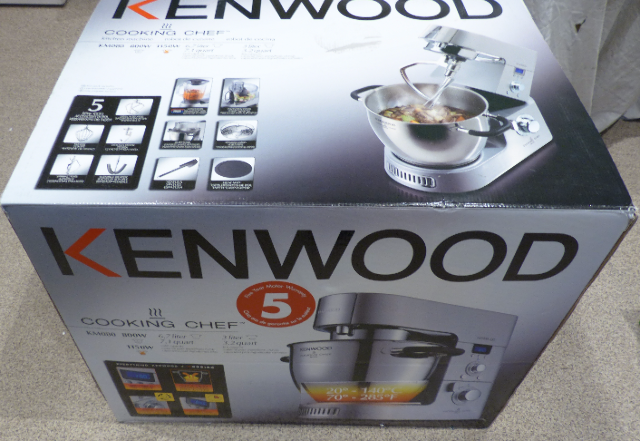 KENWOOD COOKING CHEF KM080 STAINLESS STEEL MIXER PROCESSOR & BLENDER