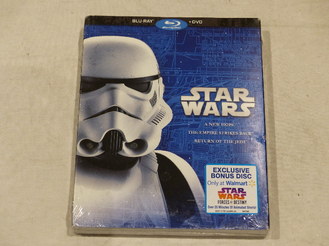 STAR WARS: A NEW HOPE/THE EMPIRE STRIKES BACK/RETURN OF THE JEDI BLU-RAY+DVD NEW