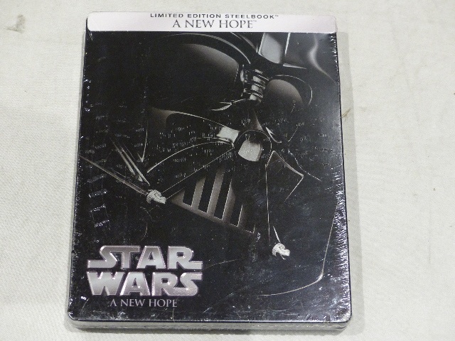STAR WARS A NEW HOPE LIMITED EDITION STEEL BOOK BLU-RAY NEW / SEALED