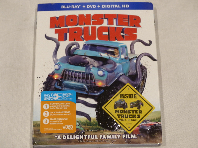 MONSTER TRUCKS BLU-RAY+DVD+DIGITAL HD NEW