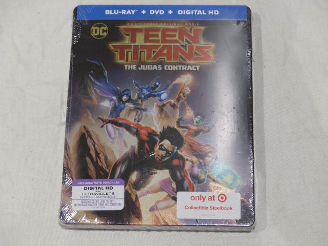 TEEN TITANS: THE JUDAS CONTRACT BLU-RAY+DVD+DIGITAL HD COLLECTIBLE STEELBOOK NEW