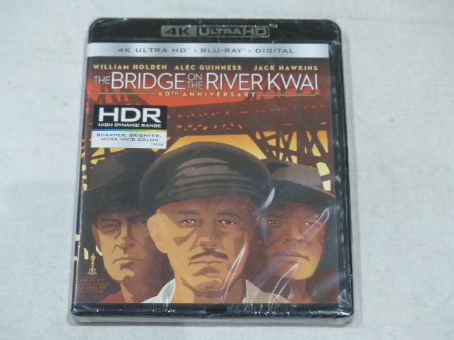 THE BRIDGE ON THE RIVER KWAI 60TH ANNIVERSARY 4K ULTRA HD+BLU-RAY+DIGITAL NEW