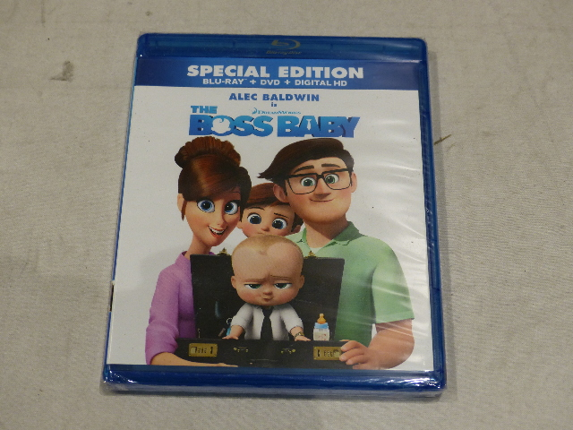 THE BOSS BABY SPECIAL EDITION BLU-RAY + DVD + DIGITAL HD NEW SEALED