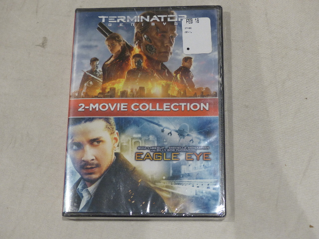 2-MOVIE COLLECTION TERMINATOR GENISYS AND EAGLE EYE DVD NEW