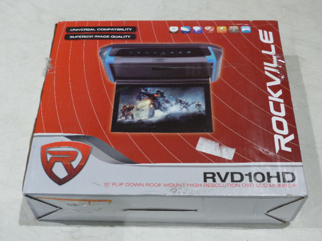 "ROCKVILLE RVD10HD 10.1"" FLIP DOWN MONITOR"
