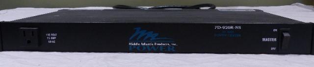MIDDLE ATLANTIC 20A RACK MOUNT POWER UNIT CENTER PD-920R-NS
