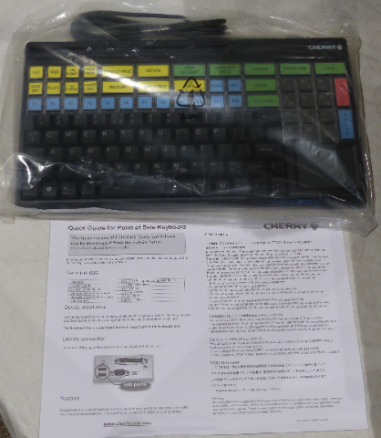 CHERRY POS KEYBOARD WITH CARD READER SPOS G86-94744EUADSA