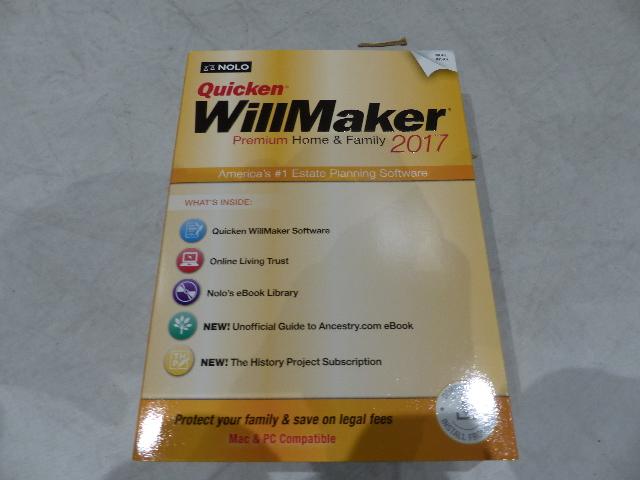 QUICKEN WILLMAKER PREMIUM HOME & FAMILY 2017 MAC & WINDOWS 93371373781