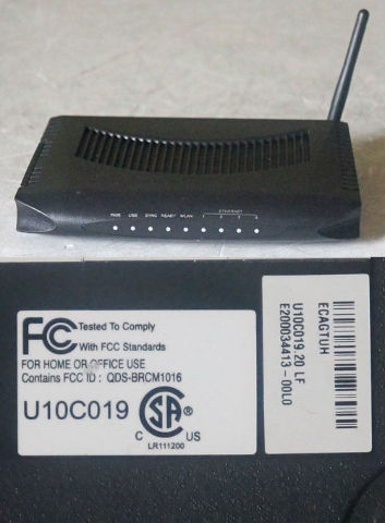AMBIT / UBEE U10C019 WIRELESS CABLEMODEM / 4-PORT WIRED ROUTER | MDG ...