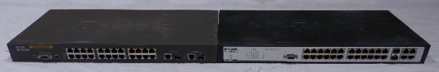 LOT OF 2* D-LINK DES-3226L & DES-3028 24 PORT ETHERNET SWITCH