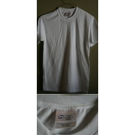 LOT OF 5 PORT AND COMPANY ADULT SMALL WHITE  MEN'S T-SHIRTS 50/50 SM40 NEW!