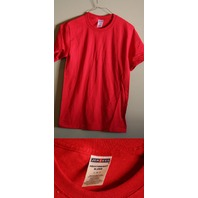 LOT OF 5 JERZEES SMALL 50/50 HEAVYWEIGHT BLEND MEN'S RED T-SHIRTS NEW!