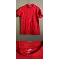 LOT OF 5 PORT AND COMPANY SMALL RED MEN'S T-SHIRTS 100% COTTON PC54 NEW!
