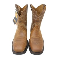 ARIAT SIERRA 10010134 MENS AGED BARK WIDE SQUARE WESTERN BOOTS SIZE 9