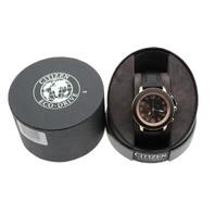 CITIZEN ECO-DRIVE BRT BLACK & ROSE GOLD STAINLESS STEEL WATCH AT2233-05E