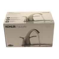 KOHLER R37024-4D1-BN 2-HANDLE BRUSH NICKEL LAVATORY FAUCET WITH POPUP
