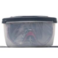 SCUBAPRO 24.832.320 FLUX TWIN DIVE MASK METALLIC RED BLACK SKIRT