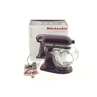 KITCHENAID ARTISAN PLUMBERRY 5QT TILT-HEAD STAND MIXER KSM155GBPB
