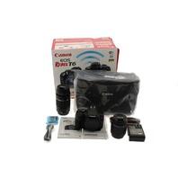 CANON EOS REBEL T6 DIGITAL SLR CAMERA KIT W/EF-S 18-55MM & EF 75-300MM ZOOM LENS