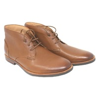 CLARKS BROYD MID MENS TAN LEATHER BOOTS SIZE 7 26123858