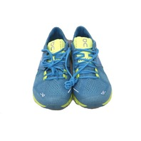 ON CLOUD X 204123 WOMENS NIAGRA/LIME RUNNING SHOES SIZE 6