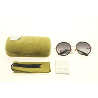 GUCCI GG0061S 003 RED/GREEN ROUND FRAME SUNGLASSES