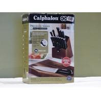 CALPHALON PRECISION 1834745 16-PC. CUTLERY SET W/ WOOD KNIFE BLOCK